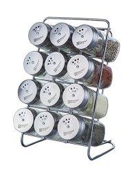 aba702867a64 ElementalKitchen Elemental Kitchen Liberty Stainless Steel Top Spice Jars 3  Openings 12-JAR Rack Set | R1460.00 | Educational | PriceCheck SA