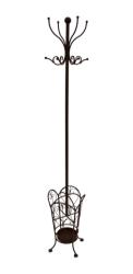 Lovethyhome Metal Hooks Free Standing Hat & Coat Rail Free Shipping - Metal Free Standing Hat & Coat Stand 180X30CM