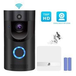 YeeSite Video Doorbell Smart Wireless Wifi Door Bell 720P HD Security Doorbell Camera With 2 Rechargeable Batteries For Ios Andr