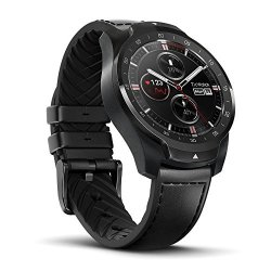 Ticwatch Pro Bluetooth Smart Watch Layered Display Nfc Payment Google Assistant Wear Os By Google Formerly Android Wear Compatible With Iphone And Android Black