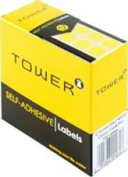 TOWER Colour Code Label Sheets Pack Of 715 Yellow