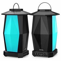 Onforu Outdoor Bluetooth Speakers 2 Pack 25W Wireless Speakers Multiple Speakers Pairing Supported IPX5 Waterproof Patio Speaker