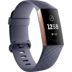 Fitbit Charge 3 Fitness Activity Tracker in Rose Gold Blue Grey