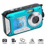 Waterproof Digital Camera Underwater Camera 24 Mp Video Recorder Full HD 1080P Selfie Dual Screen Camera Dv Recording Point And