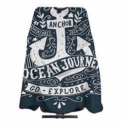 Unique Anchor Go Explore Inspirational Barber Cape Haircut Gown Professional home Salon Hair Cutting Hairdressing Hairdresser Apron For Adult women men