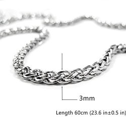 5420ee354d6 Calors Vitton 3MM Thick Cuban Curb Link Chain Stainless Steel Necklace For  Men 24 Inches | R485.00 | Fancy Dress & Costumes | PriceCheck SA