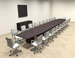 Modern Boat Shaped 24' Feet Conference Table OF-CON-C93