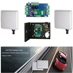 Double Way 16-23FT Long Distance Card Reader Windshield Tag Vehicle Parking System Control Kits With Control BOARD+110-240V Powe
