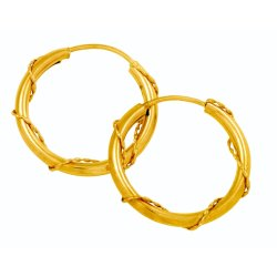 BONDED GOLD - Wire Gypsey Earring