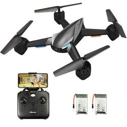 Eachine Drone With Camera Live Video For Adults E32HW Wifi Fpv With 720P HD Camera Altitude Hold Rc Drone Quadcopter Rtf - Two B