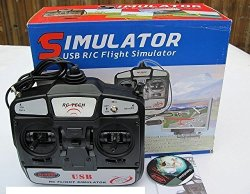6CH 6-CHANNEL Fms USB Rc Flight Simulator Software DVD With DYU-1002 Transmitter Mode 1 Right Throttle