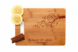 Krezy Case Wooden Engraved Cutting Board Wedding Gifts For Couple Home D Cor Love Birds