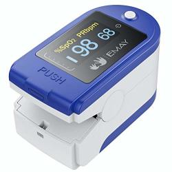 Emay Blood Oxygen Saturation Monitor Track Blood Oxygen Saturation Level & Heart Rate With High Accuracy