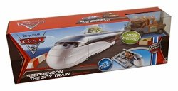 Disney Pixar Cars 2 Movie Maters Secret Mission Vehicle Playset Stephenson The Spy Train Includes 155 Scale Mater Vehicle