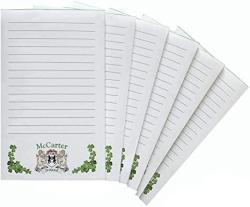 USA Mccarter Irish Coat Of Arms Notepads - Set Of 6