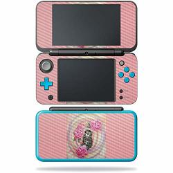 Mightyskins Carbon Fiber Skin For Nintendo New 2DS XL - Monkey Girl Protective Durable Textured Carbon Fiber Finish Easy To Apply Remove