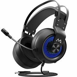 Mpow EG3 Gaming Headset PC PS4 USB Gaming Headset 7.1SURROUND Sound Soft Imitation Protein Earmuff Multiple Sound Modes Gaming H
