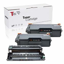 Tonersave TN850 DR820 Compatible For Brother HL-L5200DW HL-L6200DW Mfc L5700DW Drum MFC-L5900DW DCP-L5500DN DCP-L5600DN DCP-L5650DN HL-L5000D HL-L5100DN HL-L5200DWT 3PACK 2 Toners + 1 Drum