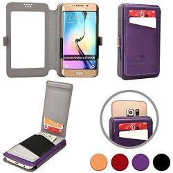 """Cooper Slider Flip Universal 5"""" Smartphone Wallet Case For Yota Yotaphone Smartphone Wallet Case In Purple"""