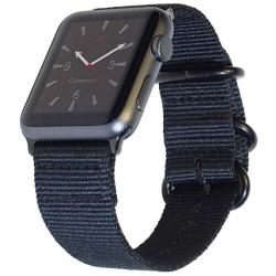 Carterjett Extra Large Nylon Nato Compatible Apple Watch Band 42MM 44MM XL Replacement Iwatch Band 8-10.5 Wrists Long Adjustable