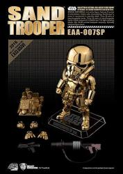 "Beast Kingdom Star Wars 2016 Sdcc Exclusive EAA-007SP 6"" Sand Trooper Chrome Gold Figure"