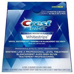 Crest 3D White Professional Effects Mmlbst Whitestrips Dental Teeth Whitening Strips Kit 4 Pack