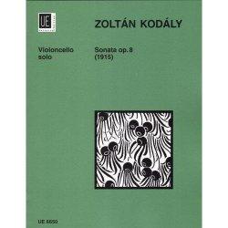 Carl Fischer Kodaly Zoltan - Sonata Op. 8 - Cello Solo - Universal Edition