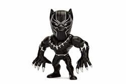 "Jada Toys Metalfigs Marvel Avengers Black Panther 100% Die-cast Metal Collectible Figure 4"" Black"