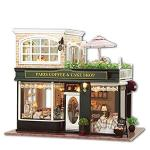 Tac Store Diy Dollhouse Wooden Miniature Furniture Kit -home Deco R-3D Wooden Puzzle Playset - With LED Best Birthday Gifts For