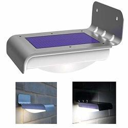 Lhq-hq Outdoor Lighting Solar LED Motion Sensor Waterproof Wall Light For Home Garden Outdoor