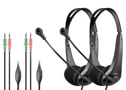 Astrum 2 Pack Wired Stereo Headset With MIC - HS115