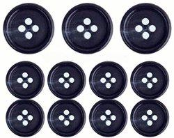 BTS Navy Blue Premium Suit Buttons Set- 11 Pieces