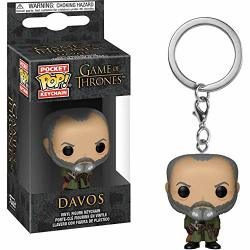 Funko Davos: Game Of Thrones X Pocket Pop Mini-figural Keychain + 1 Official Game Of Thrones Trading Card Bundle 37662