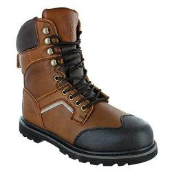 Estar Safety Shoes Manufacturing Co , LTD Rugged Blue EST118-BROWN-SOFT-10M  8
