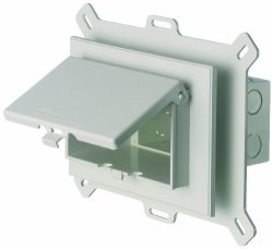 Arlington Industries. Inc Arlington DBHS1W-1 Low Profile In Box Recessed Outlet Box Wall Plate Kit For New Vinyl Siding Construction Horizontal 1-GANG White