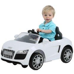 V Audi Spin Car In White R Rideon Toys PriceCheck SA - Audi 6v ride toy cars