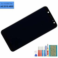 New Super Amloed Display Touch Screen Assembly Compatible With Samsung Galaxy A6 2018 A600 Display Touch Digitizer With Frame+ Tools Black