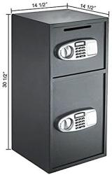 USA Mrt Supply Digital Double Door Safe Depository Drop Box Gun Safes Cash Office Security Lock With Ebook