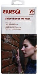 Ellies Video Indoor Monitor 4 White With Power Adaptor
