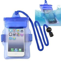 Eforcity Insten Blue Waterproof Bag Case Lanyard Compatible With Apple Ipod Nano 7 7TH Generation Samsung Galaxy Ace Zte Quest