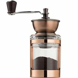 Mitbak Manual Coffee Grinder With Adjustable Settings| Sleek Hand Coffee Bean Burr Mill Great For French Press Turkish Espresso & More Premium Coffee