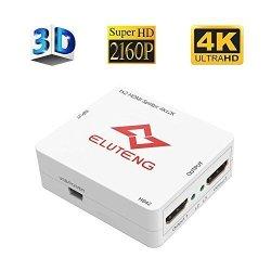 ELUTENG 4K HDMI Splitter 1X2 Ultra HD HDMI Splitter Box 1 Input 2 Output  Adapter 4KX2K Dual HDMI Splitter Distributor Amplifier | R | Handheld
