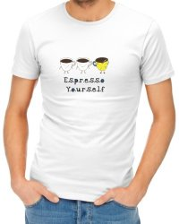 Espresso Yourself Mens T-Shirt - White XL