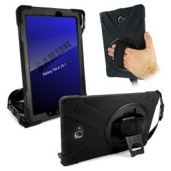 Tuff-Luv Rugged Case & Stand For Samsung Galaxy Tab A 10.1 With S-pen Black