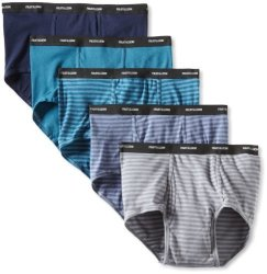Fruit Of The Loom Men's Underwear Fruit Of The Loom Men's Big Stripe Solid Brief - Colors May Vary Assorted Xx-large Pack Of 5