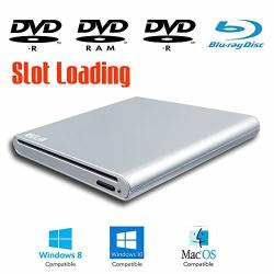 Slot Loading Portable External Blu-ray DVD Players For Windows 10 2-IN-1 15 17 Inch Touch Screen Laptop & Desktop Computer Super Multi Blue-ray Player