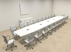 Modern Boat Shaped 24' Feet Conference Table OF-CON-C129