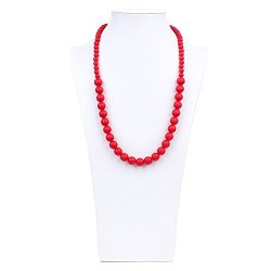 Bumkins Nixi Ciclo Silicone Teething Necklace Red