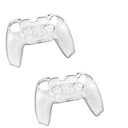 Aso 2 Pack PS5 Controller Skin Protector Grip Cover Case - Clear