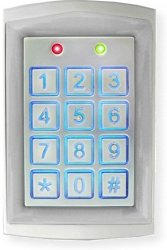 SECO-LARM SK-1323-SDQ Sealed Housing Weatherproof Stand-alone Digital Access Keypad Up To 1010 Users Proximity Reader Backlit Keys For Nighttime Use Rugged Aluminum Construction Pack Of 1